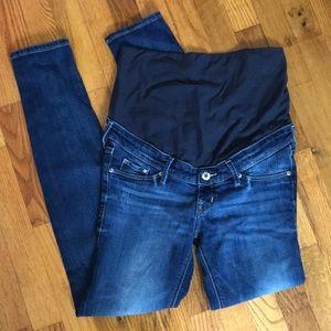h&m mama skinny high rib jeans